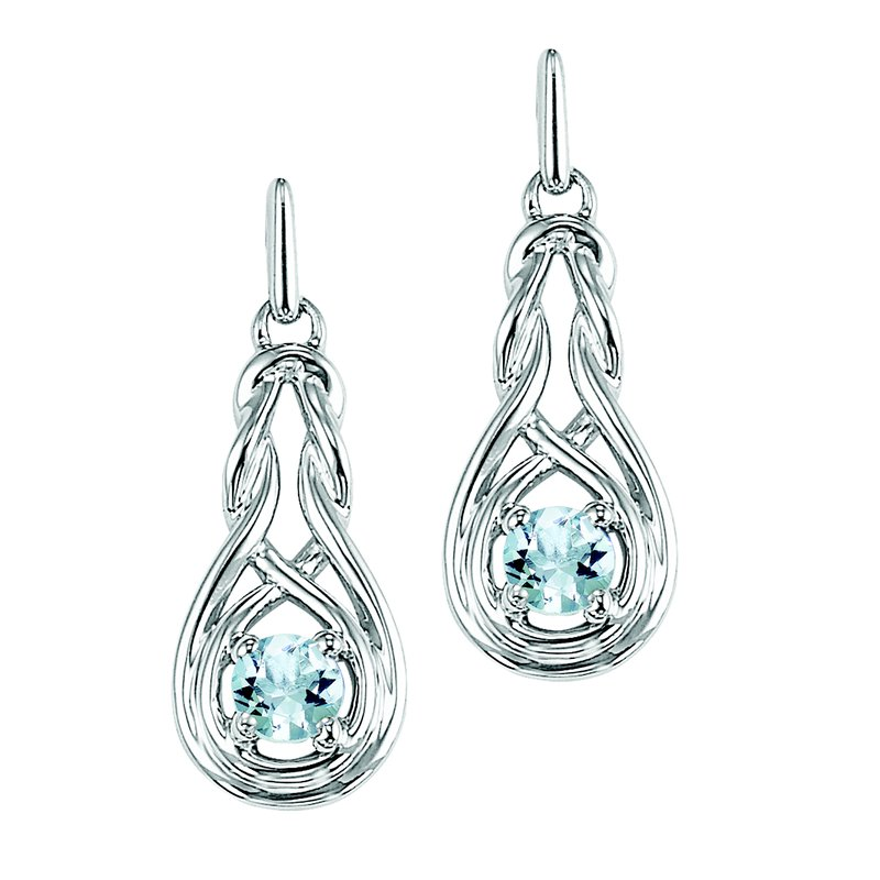 Mixables Silver White Topaz Earrings (Available In all BirthStones)