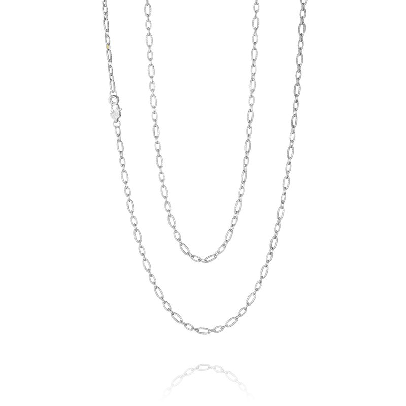 Tacori Staggered Link Silver Chain - 38 inches