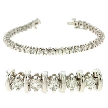 Bar Diamond Tennis Bracelet