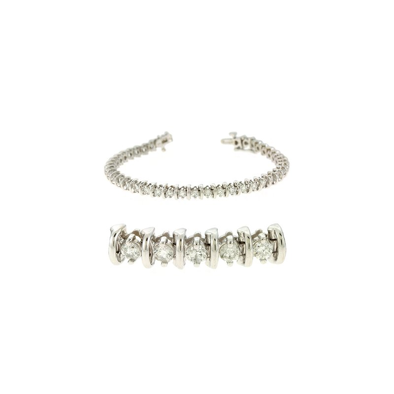S. Kashi  & Sons Bar Diamond Tennis Bracelet