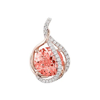 Champagne Sapphire Pendant-CP3905RCS