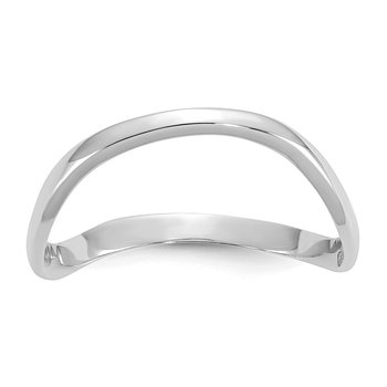 14K White Gold Polished Wave Fashion Thumb Ring