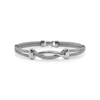 Grey Cable Twist Bracelet