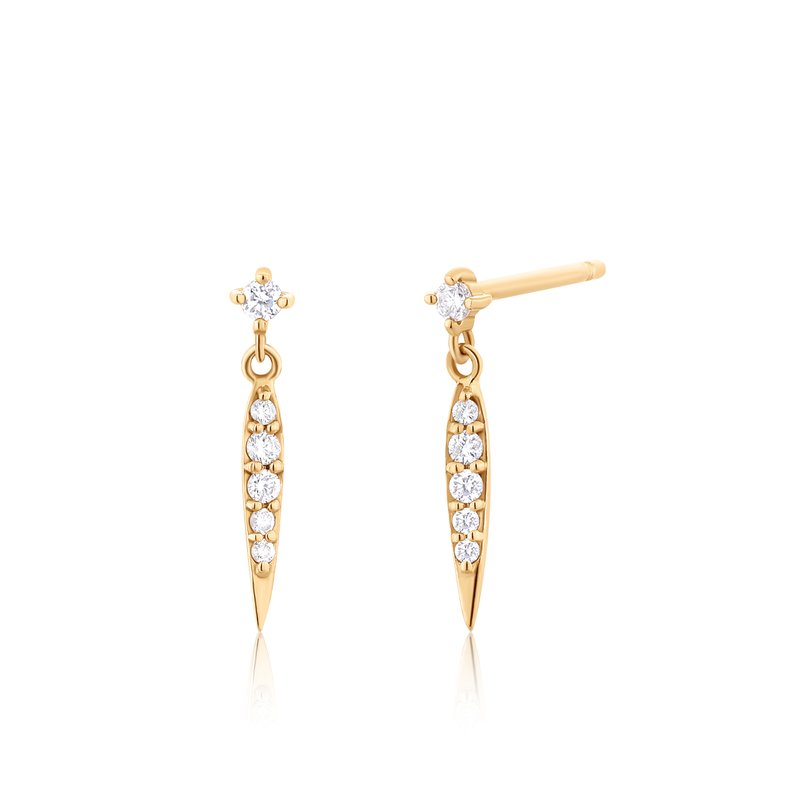 Aurelie Gi FLORENCE | Diamond Dagger Earrings