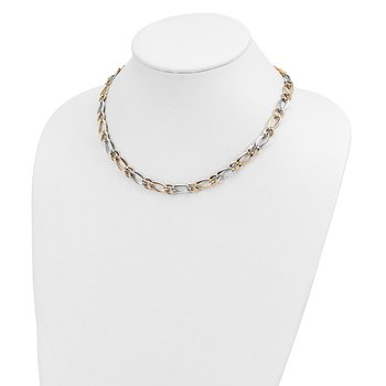 14k Two-Tone Polished Necklace
