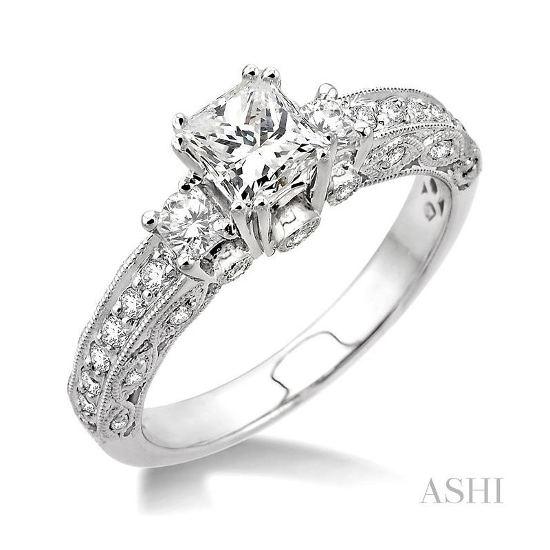 ASHI past present & future semi-mount diamond engagement ring