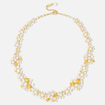 Penélope Cruz Icons of Film Choker, Yellow, Gold-tone plated