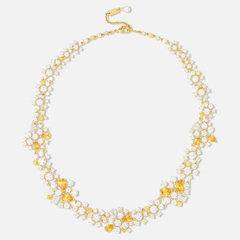 Swarovski Penélope Cruz Icons of Film Choker, Yellow, Gold-tone plated