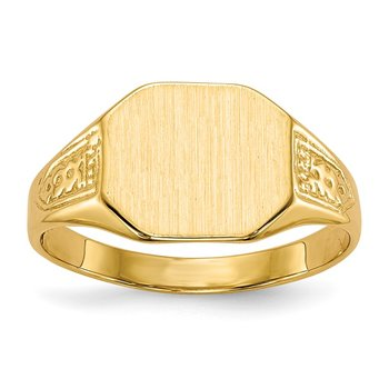 14k 9.0x11.0mm Closed Back Signet Ring