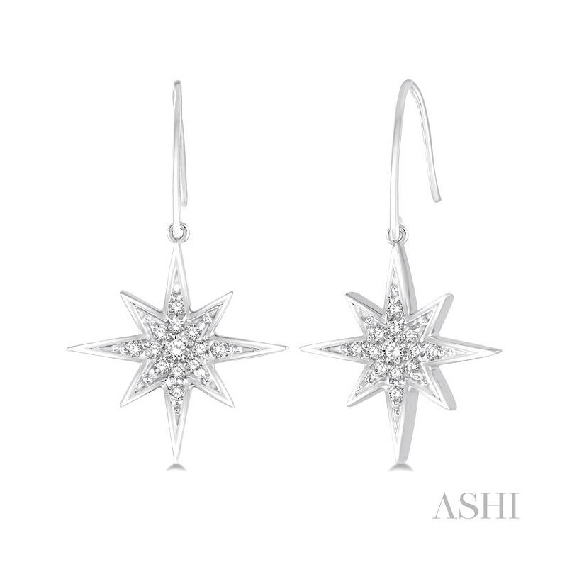 ASHI star diamond earrings