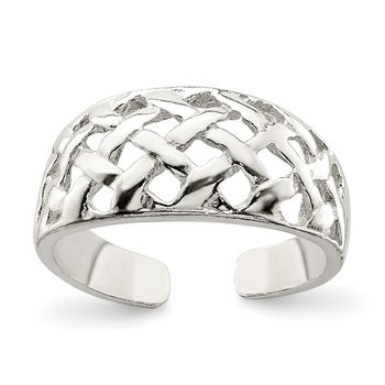 Sterling Silver Lattice Toe Ring