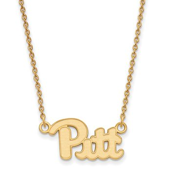 Gold-Plated Sterling Silver University of Pittsburgh NCAA Necklace