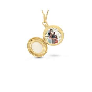 Michelle Locket Necklace Gold