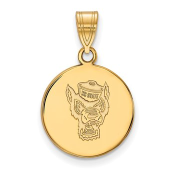 Gold North Carolina State University NCAA Pendant