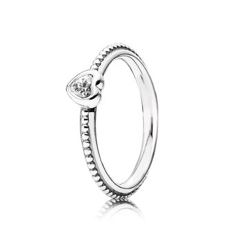 One Love Ring, Clear Cz