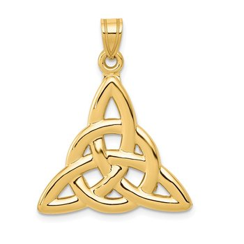 14k Polished Trinity Pendant