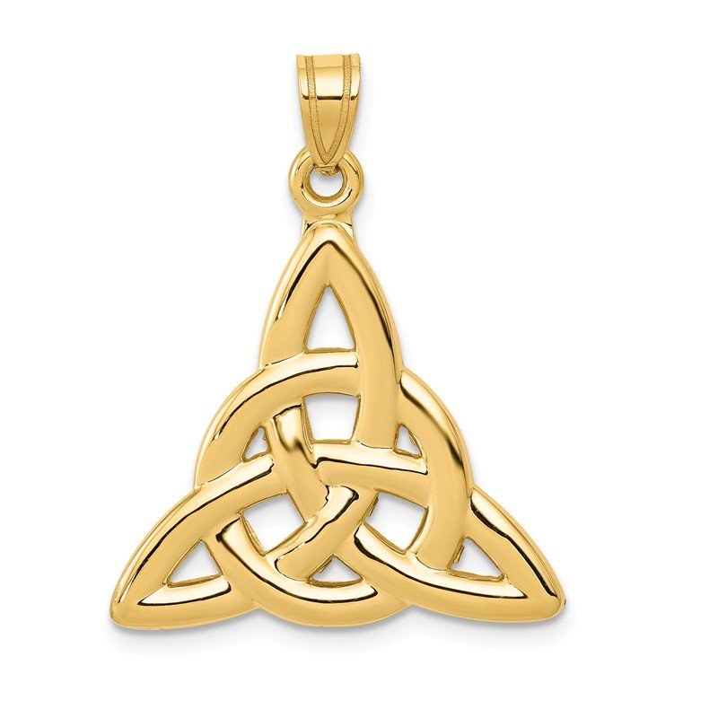Quality Gold 14k Polished Trinity Pendant