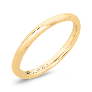 18K Yellow Gold Plain Wedding Band
