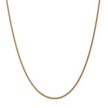 14k 1mm Spiga with Spring Ring Clasp Chain