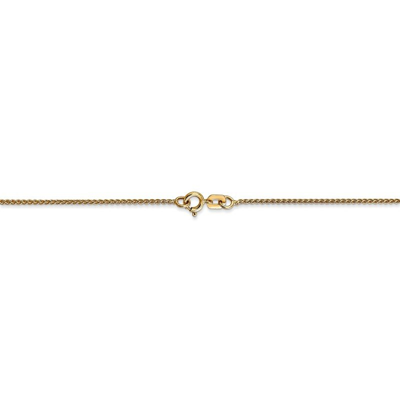 Quality Gold 14k 1mm Spiga with Spring Ring Clasp Chain