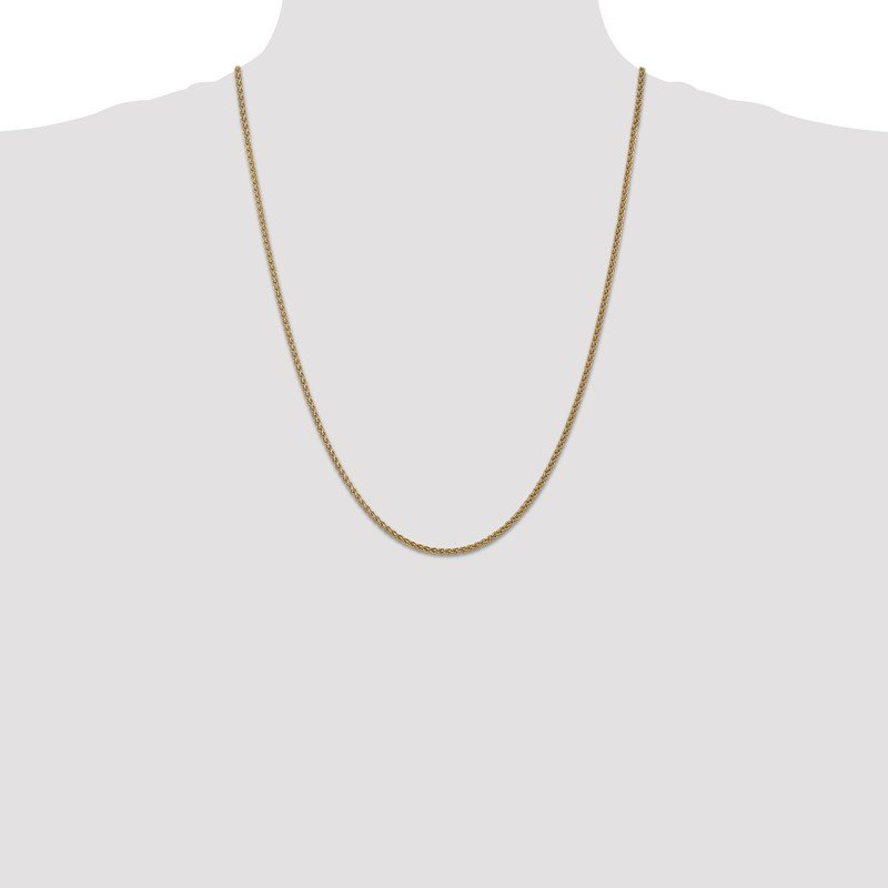 JC Sipe Essentials 14k 1mm Spiga with Spring Ring Clasp Chain