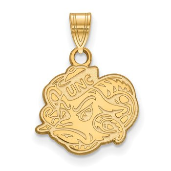 Gold-Plated Sterling Silver University of North Carolina NCAA Pendant