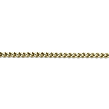 Stainless Steel Gold Ion Plated Thin Foxtail Chain Necklace - 4 MM Wide, 24 Inches Length with Push Lock Closure