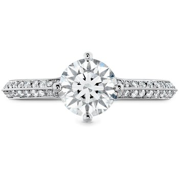 0.18 ctw. Camilla Pave Knife Edge Engagement Ring