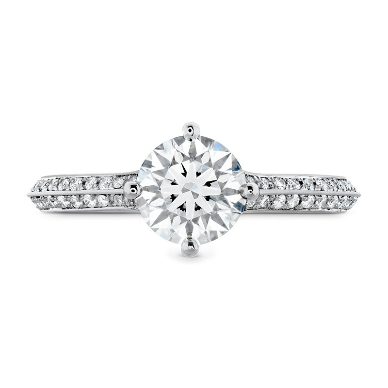 Hearts on Fire Camilla Pave Knife Edge Engagement Ring
