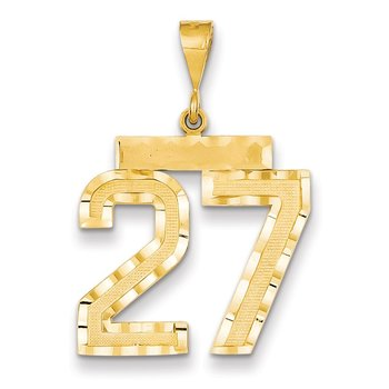 14k Large Diamond-cut Number 27 Charm