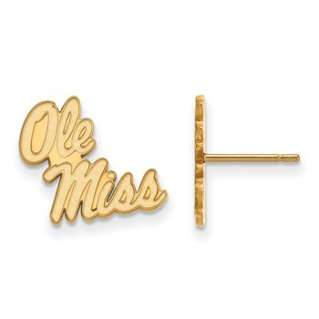 Gold-Plated Sterling Silver University of Mississippi NCAA Earrings