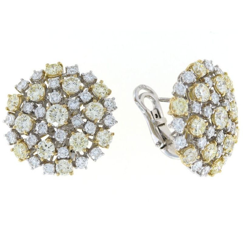 Roberto Coin 18KT GOLD DIAMOND CLUSTER EARRINGS