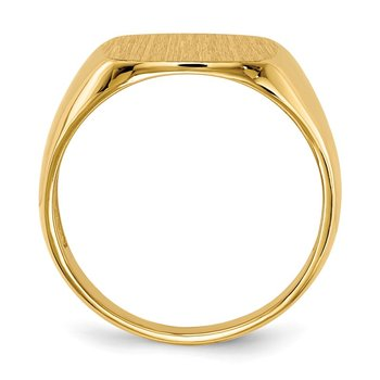 14k 14.0x13.5mm Open Back Mens Signet Ring