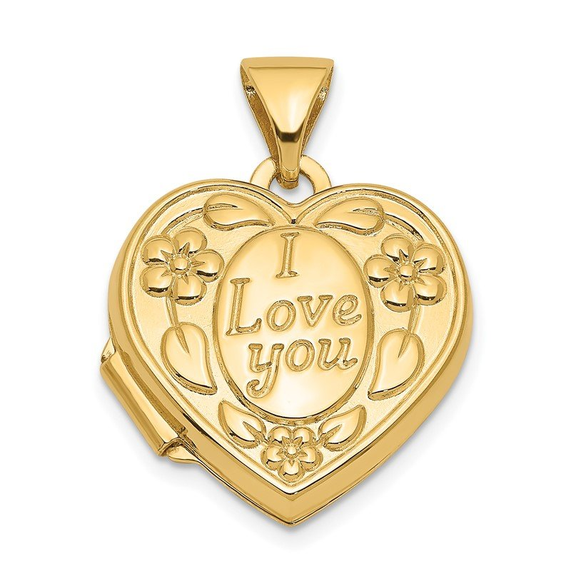 Quality Gold 14k I LOVE YOU Heart Locket