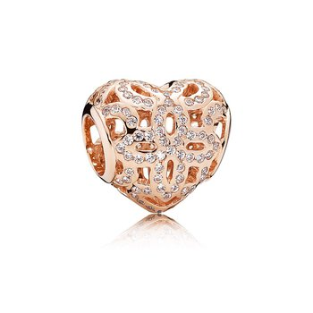 Love & Appreciation Charm, PANDORA Rose™ & Clear CZ