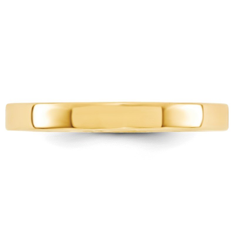Quality Gold 14KY 3mm Standard Flat Comfort Fit Band Size 10