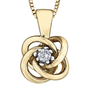 Canadian Diamond Solitaire Pendant