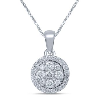 14K 0.5Ct Diamond Pendant