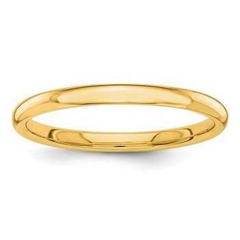 14k Polished 2mm Band