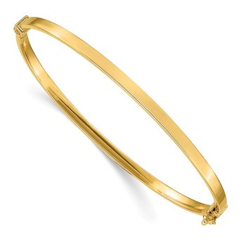 14k Polished Hinged Bangle Bracelet