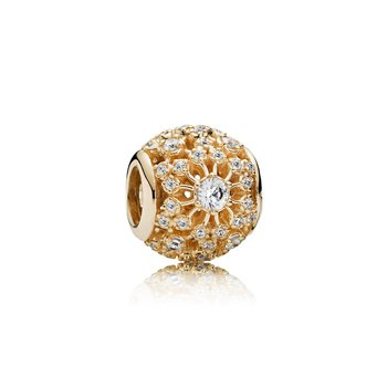 Inner Radiance Charm, Clear Cz 14K Gold