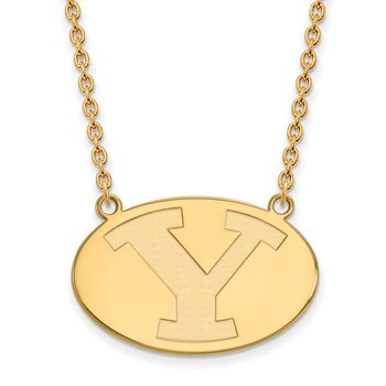 Gold-Plated Sterling Silver Brigham Young University NCAA Necklace
