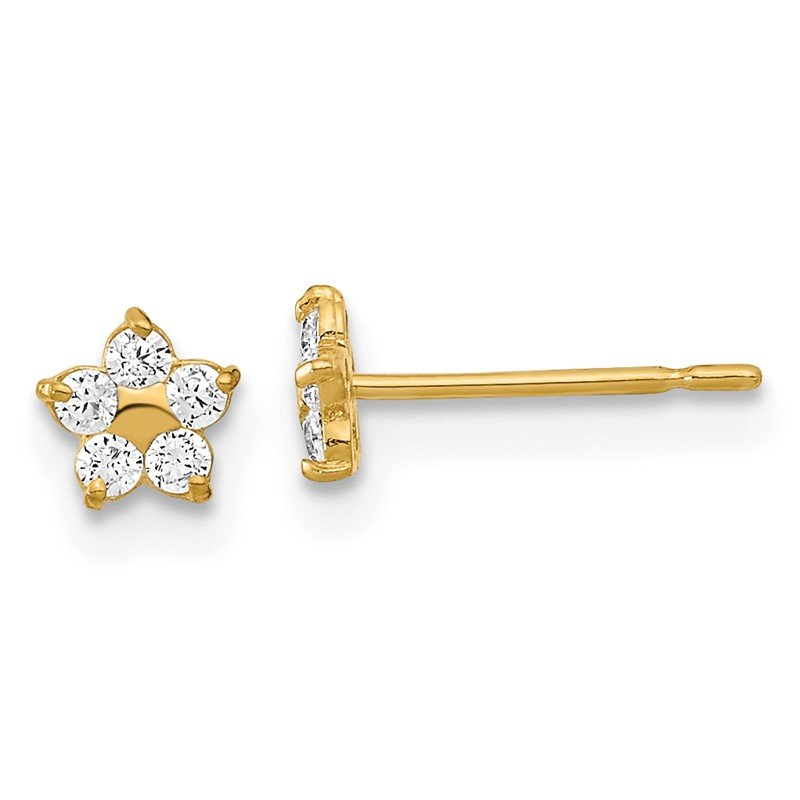 Quality Gold 14k Madi K Kids CZ Star Post Earrings