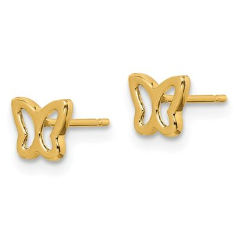 14k Madi K Cut-out Butterfly Post Earrings