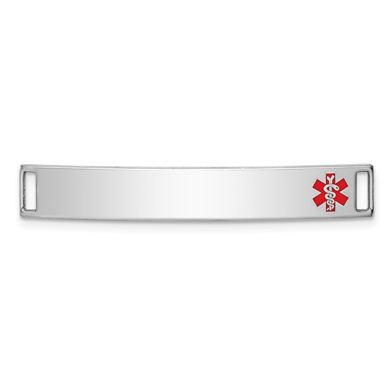 Quality Gold Sterling Silver Rhodium-plated Medical ID Plate