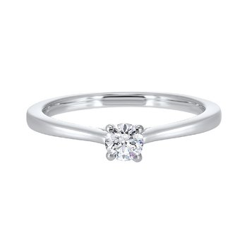 Diamond Round Classic Solitaire Engagement Ring in 14k White Gold (1/2ctw)