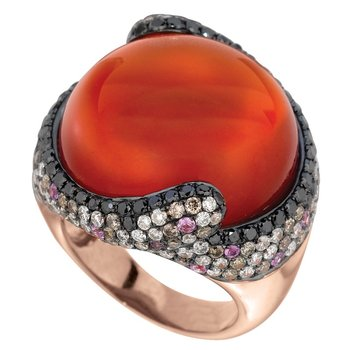 Crimson Couture Red Agate Ring