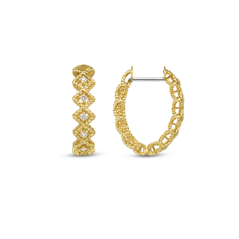 Roberto Coin 18Kt Gold Oval Hoop Earrings