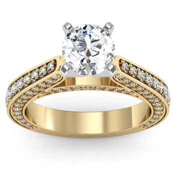 Antique Cathedral Diamond Engagement Ring