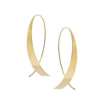 Small Glam Upside Down Hoops